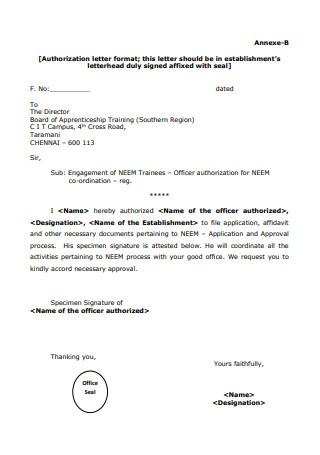 Basic Notarized Authorization Letter