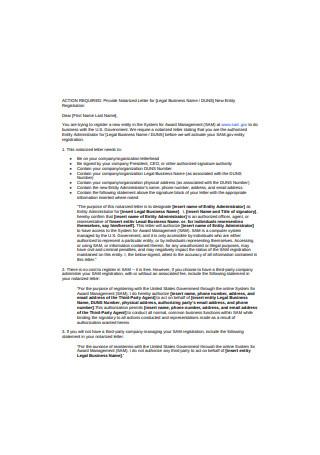 Basic Notarized Letter Example