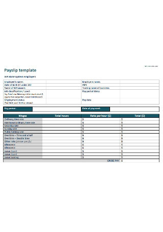 Basic Payslip Template