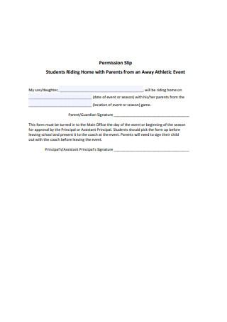 Basic Permission Slip Format