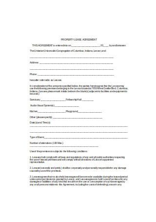 Basic Property Lease Agreement