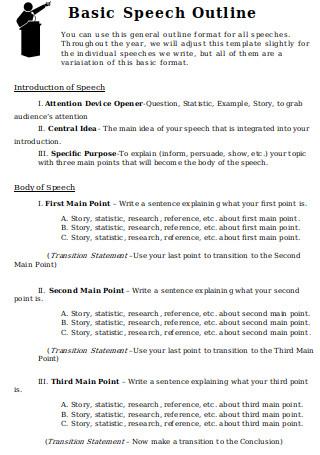 Basic Speech Outline