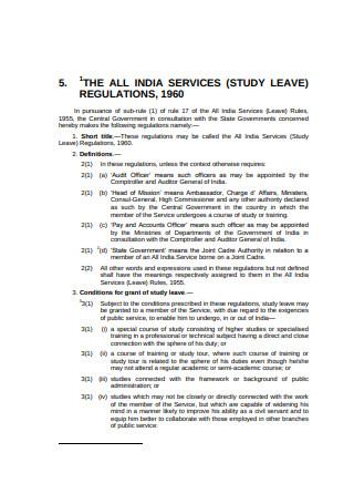 Basic Study Leave