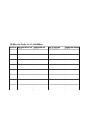 Behaviour Tracking Chart