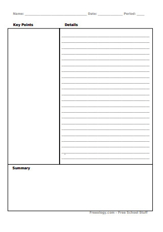 Best Cornell Notes Template