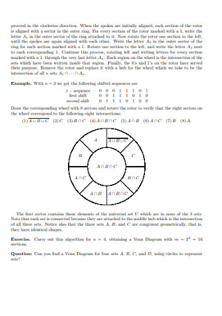 Binary Numbers and Venn Diagram Template