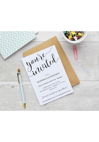 Business Launch Invitation Template