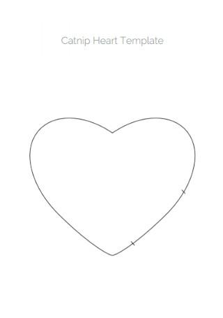 Catnip Heart Template
