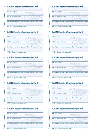 Chapter Membership Card