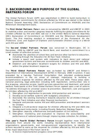Children and AIDS Newsletter