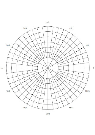 Circle Graph Paper Template