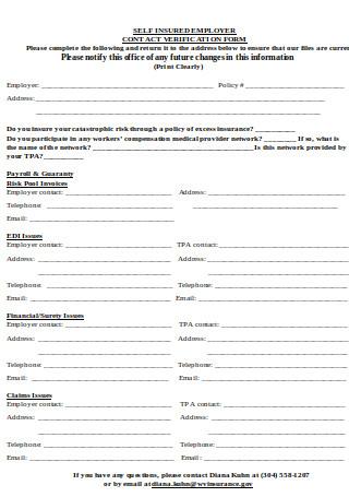 Contact Verification Form