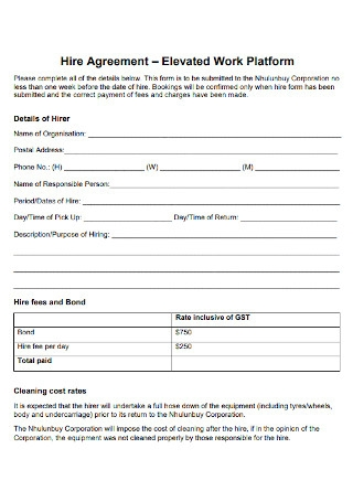 Corporation Work for Hire Agreement