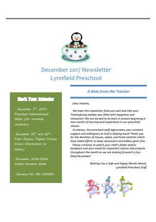 December Newsletter Sample