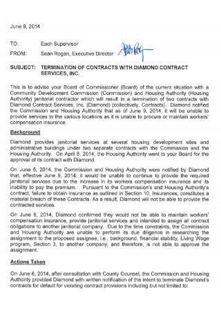 Diamond Contract of Service Template