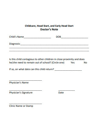 Doctor's Note Template