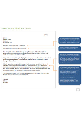 Donor Centered Thank You Letters