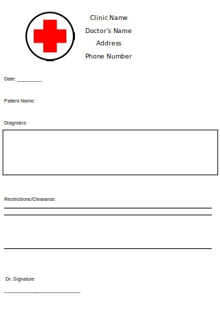 Editable Doctor Note