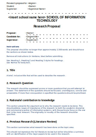 Editable Research Proposal Template