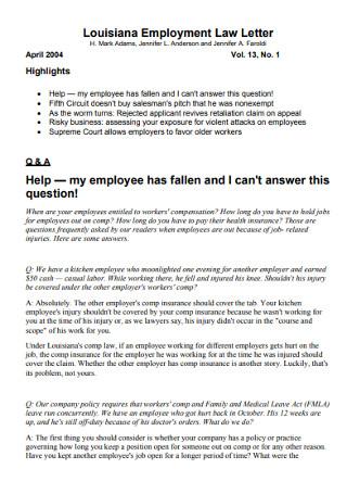 Employment Law Letter