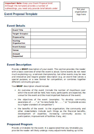 20 Sample Event Management Proposal Templates In Pdf Ms Word