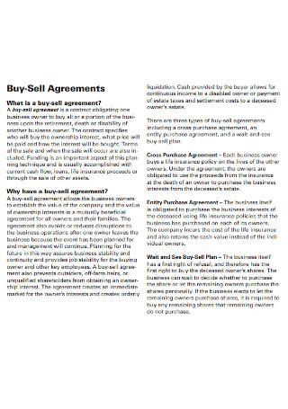 Farmer Buy Sell Agreement
