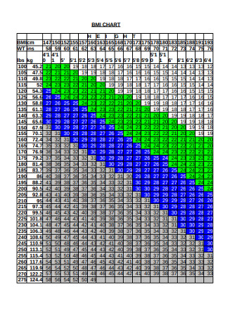 Formal BMI Chart Example