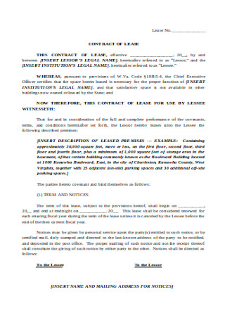 Formal Lease Contract Template