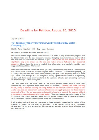 Formal Petition Letter