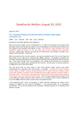 Formal Petition Letter