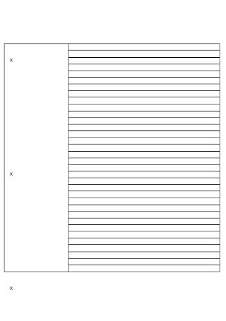 Format of Cornell Notes Template