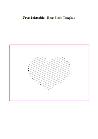 Free Heart Sitch Template