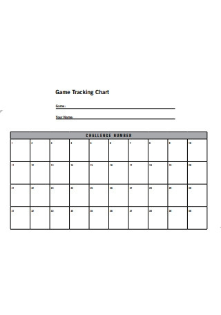 Game Tracking Chart