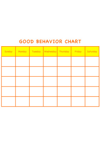 Good Behavior Chart