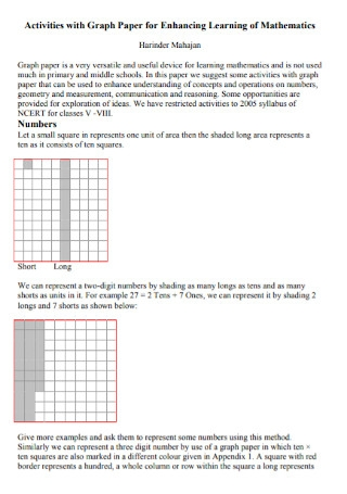 Graph Paper for Enhancing Learning of Mathematics