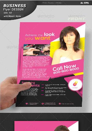 Hair Cut Pamphlet Design