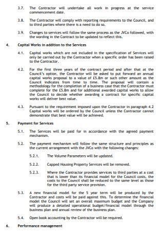 Heads of Terms for a Services Agreement