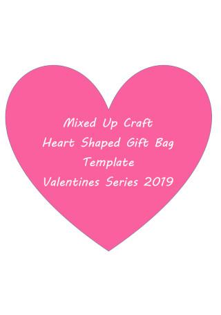 Heart Shaped Gift Bag Template