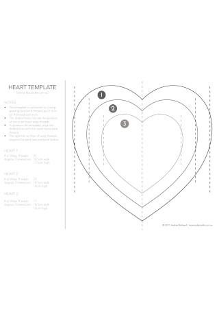 Heart Template Format