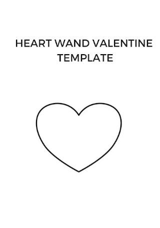 Heart Wand Valentine Template