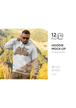 Hoodie Mock Up Mountains