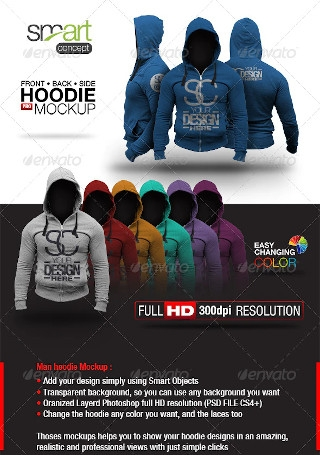 Hoodie Mock up Template