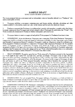 IIndependent Work for Hire Agreement
