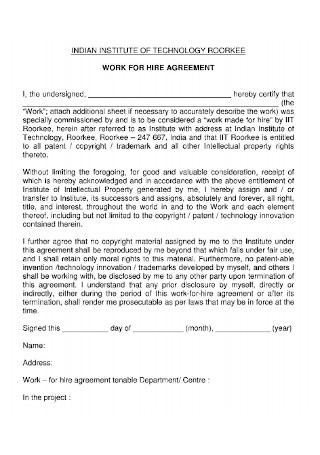 IT Work for Hire Agreement