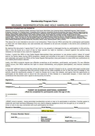 Indemnification and Hold Harmless Agreement Format