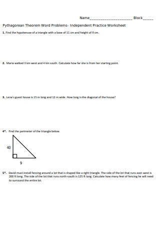 Independent Practice Worksheet