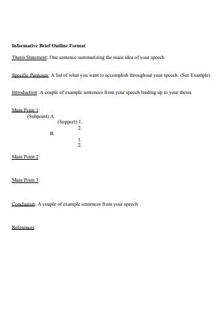 Informative Brief Outline Format