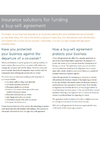 Insurance Solutions for Funding Buy Sell Agreement