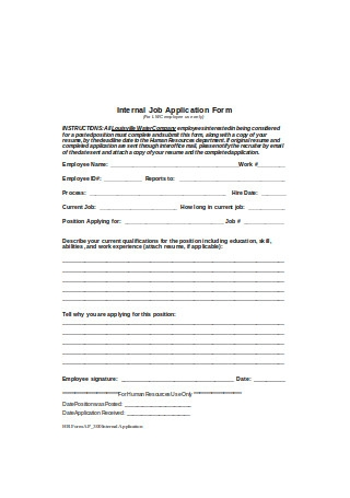 Internal Job Application Form