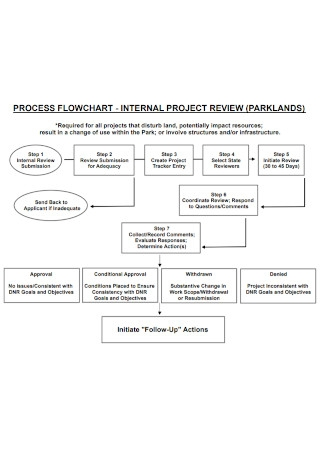 Internal Project Review Flowchart Template